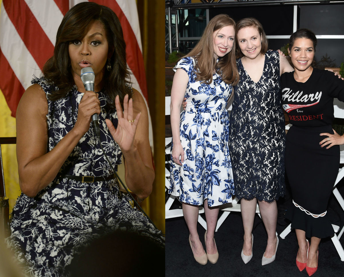 Michelle Obama and Lena Dunham in Creatures of the Wind. Photos: Getty Images
