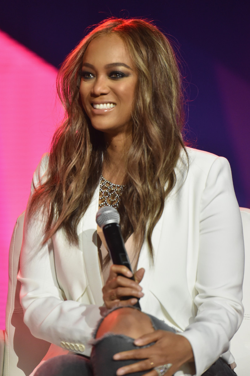 """Tyra Banks at the 2016 """"Essence' Festival. Photo:Paras Griffin/Getty Images"""