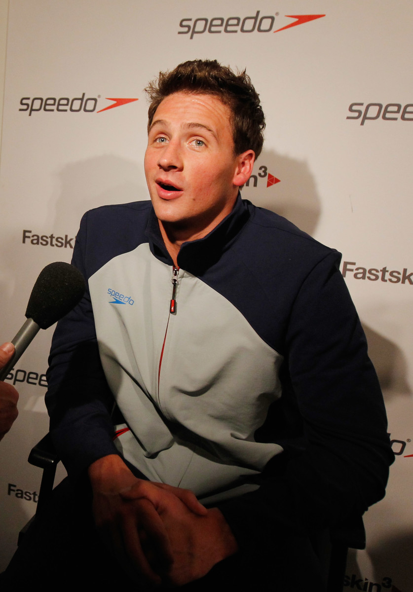 Ryan Lochte at a Speedo press conference in 2011. Photo: Mike Stobe/Getty Images