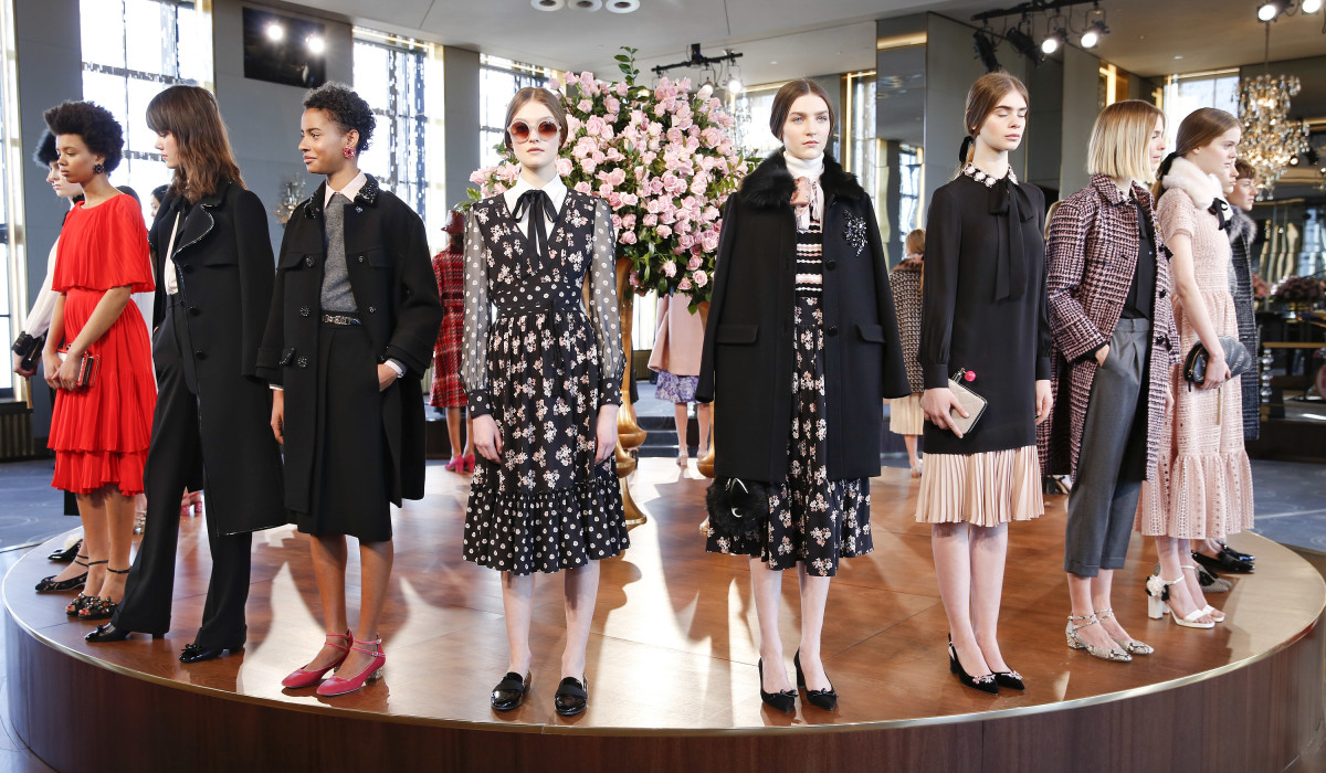 Kate Spade New York's Fall 2016 presentation. Photo: Getty Images