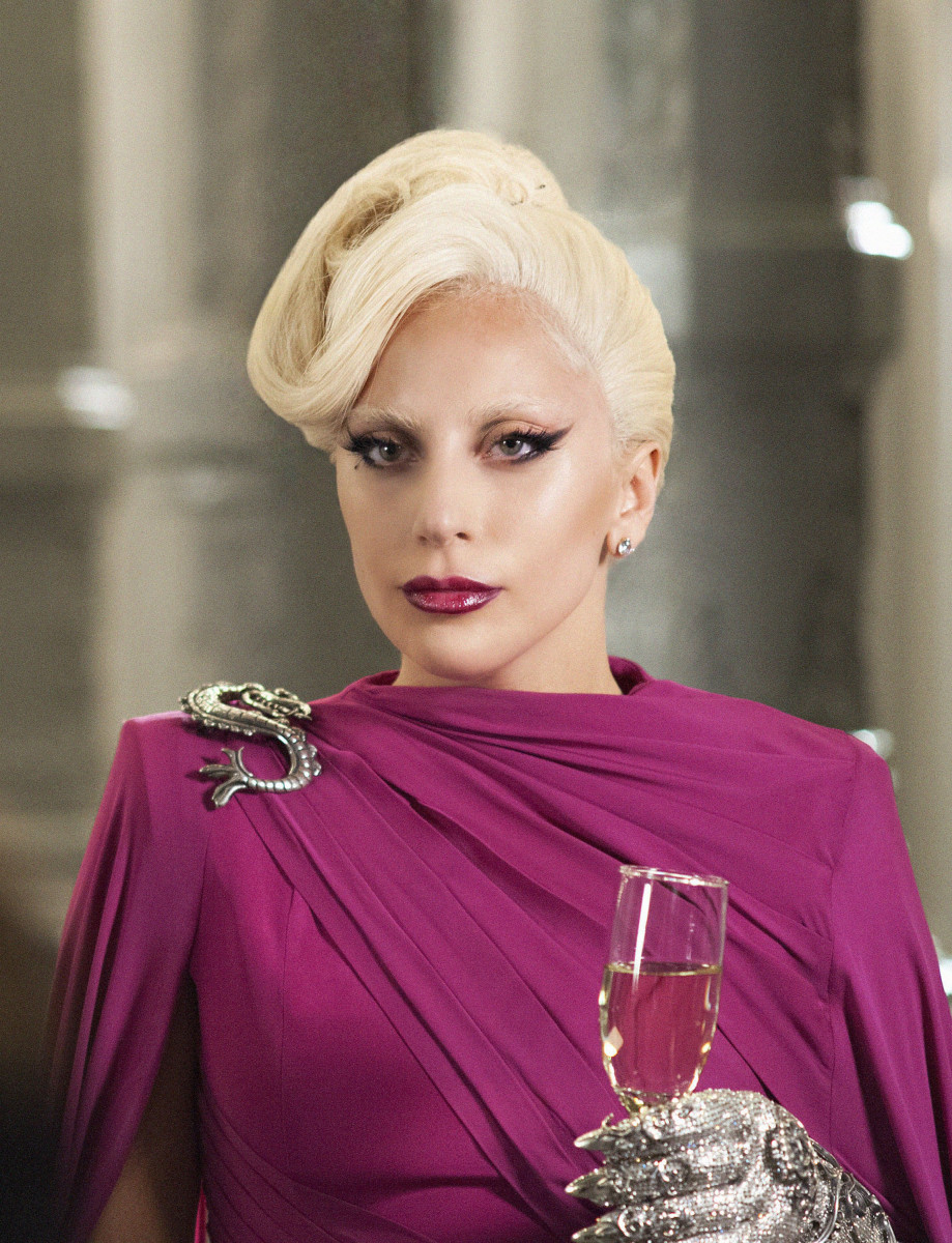 Lady Gaga as The Countess in the Michael Costello gown. Photo: FX Networks