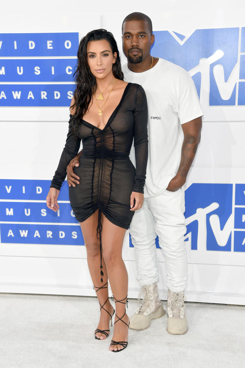 Kim Kardashian and Kanye West at the 2016 MTV Video Music Awards. Photo: Jamie McCarthy/Getty Images