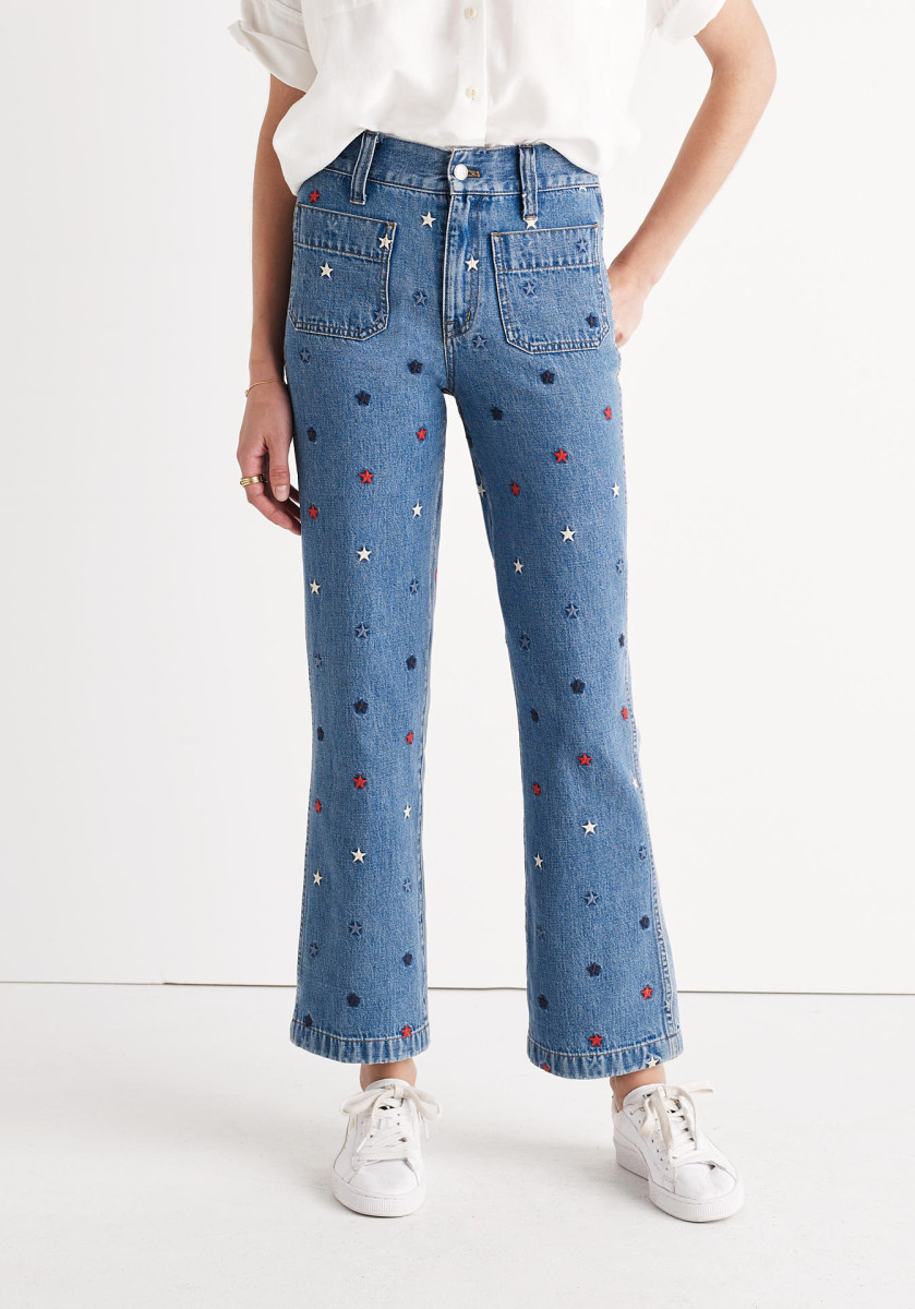 Rivet & Thread embroidered star jeans, $225, available at Madewell.