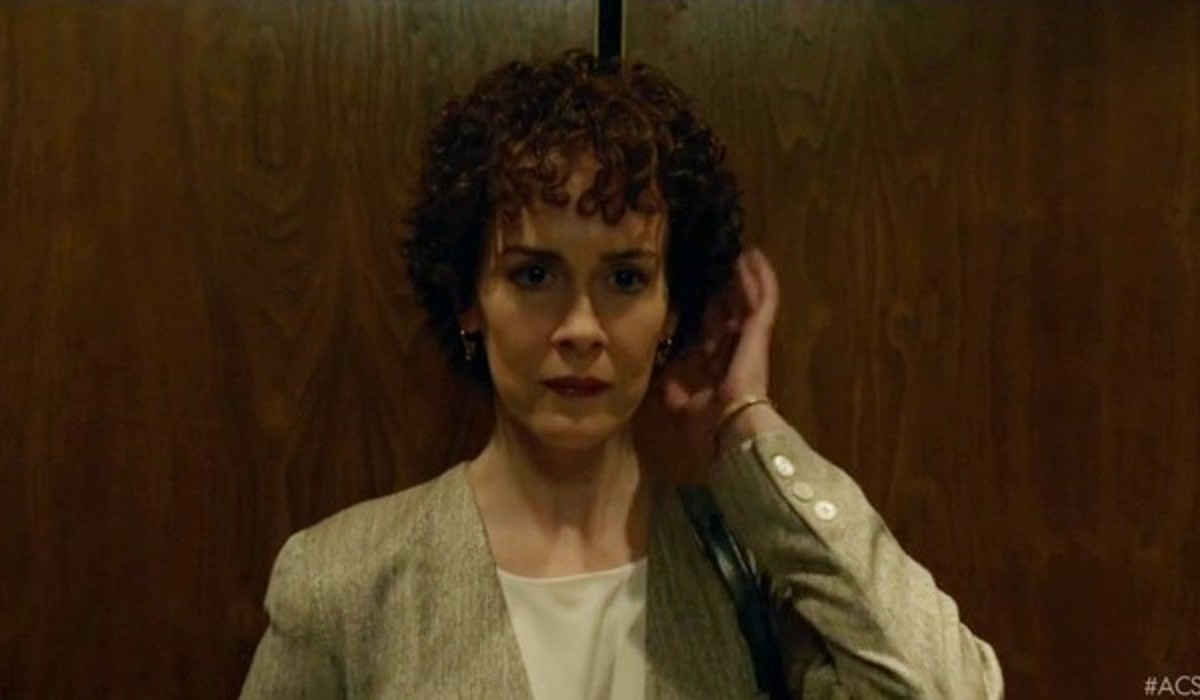 Sarah Paulson as a made-over Marcia Clark. Screengrab: People v. O.J. Simpson: American Crime Story/FX