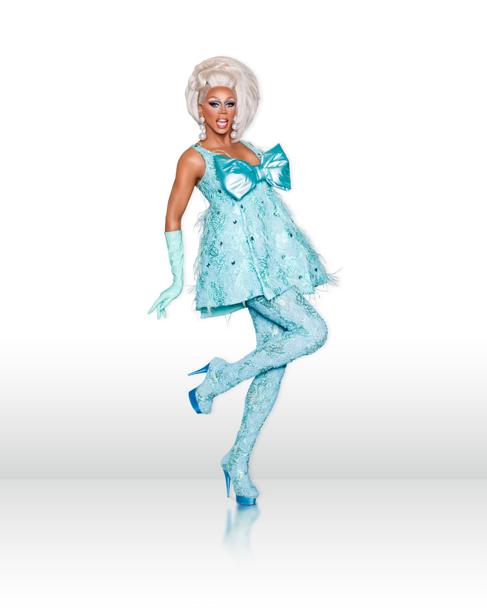 RuPaul in a custom Zaldy costume. Photo: Logo