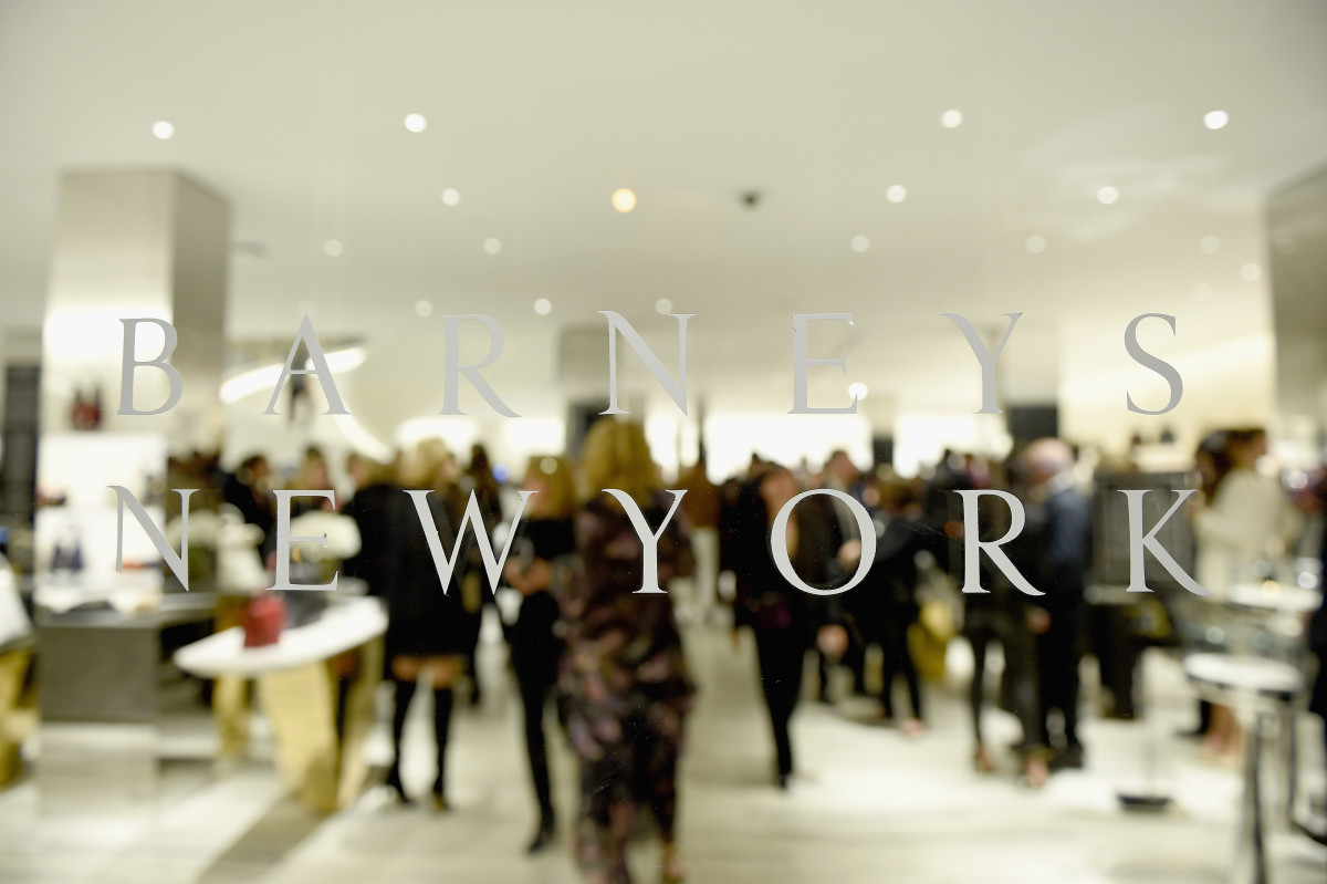 The signage at the Barneys downtown flagship in New York City, Photo: Dimitrios Kambouris