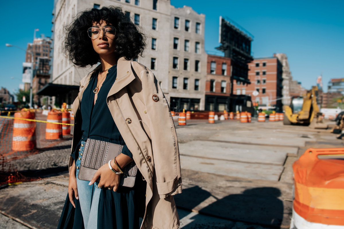 "Solange Knowles stars in ""The Walk"" campaign by Michael Kors. Photo: Tommy Ton/Michael Kors"