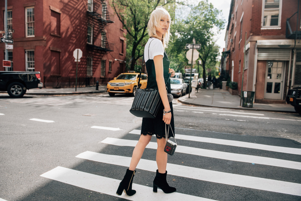 "Soo Joo Park stars in ""The Walk"" campaign by Michael Kors. Photo: Tommy Ton/Michael Kors"