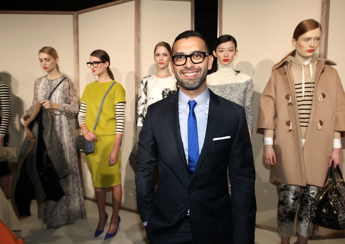 Tom Mora at J.Crew's fall 2012 presentation during New York Fashion Week. Photo: Dario Cantatore/Getty Images