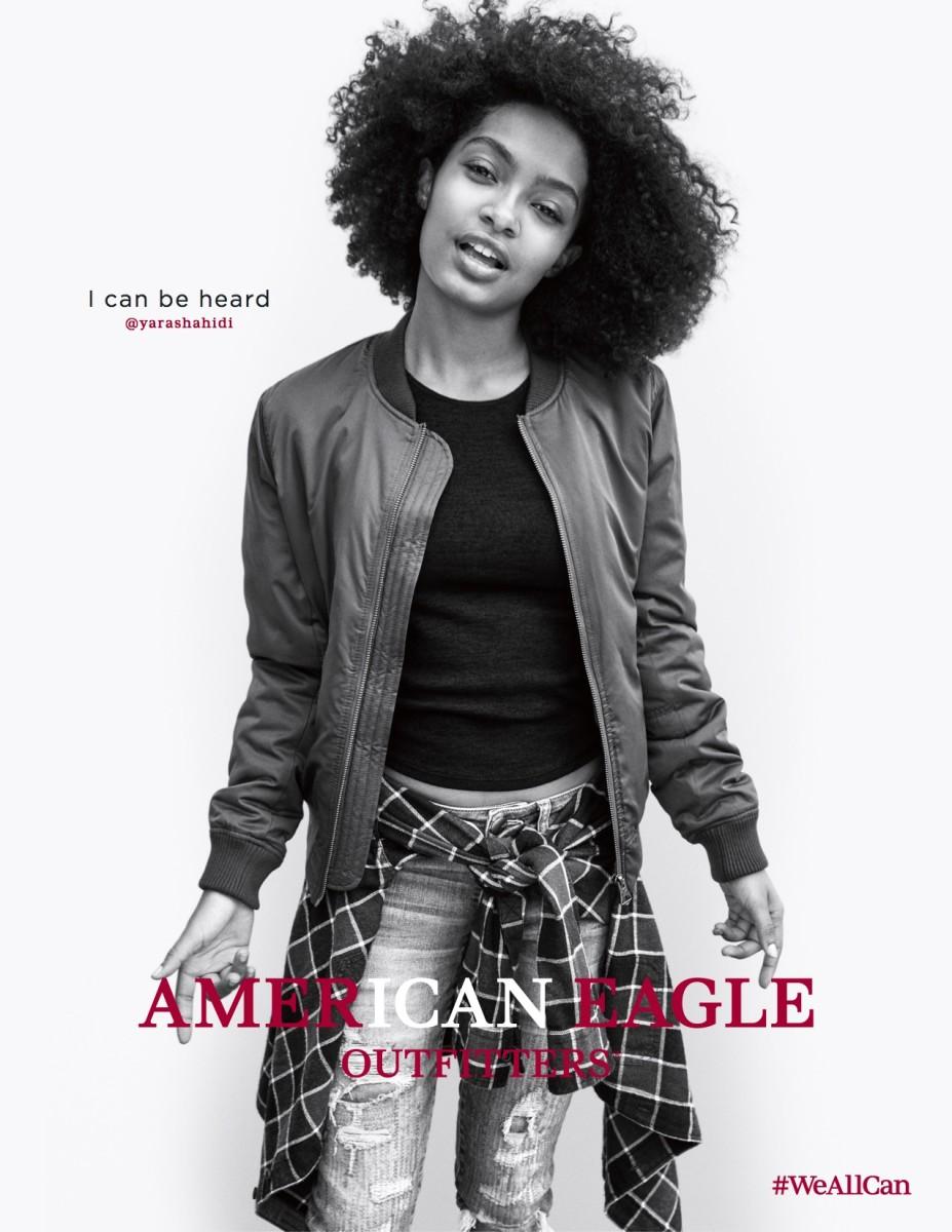 Yara Shahidi for American Eagle's fall 2016 campaign. Photo: Cass Bird/American Eagle