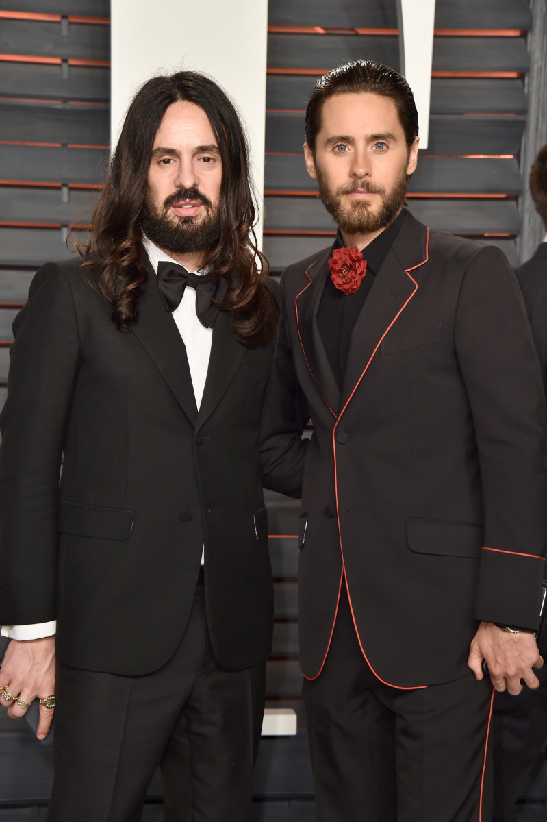 Pretty sure Jared Leto knows how to pronounce 'Michele' correctly. (Alessandro Michele and Leto at the 2016 Vanity Fair Oscar Party). Photo: Pascal Le Segretain/Getty Images