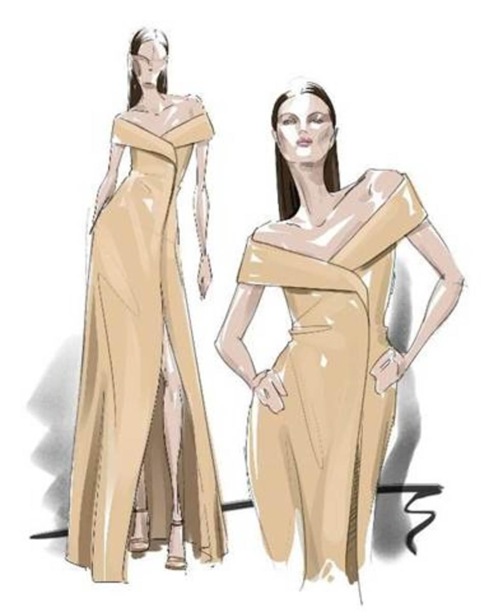 A sketch of the design. Photo: Courtesy of Hugo Boss