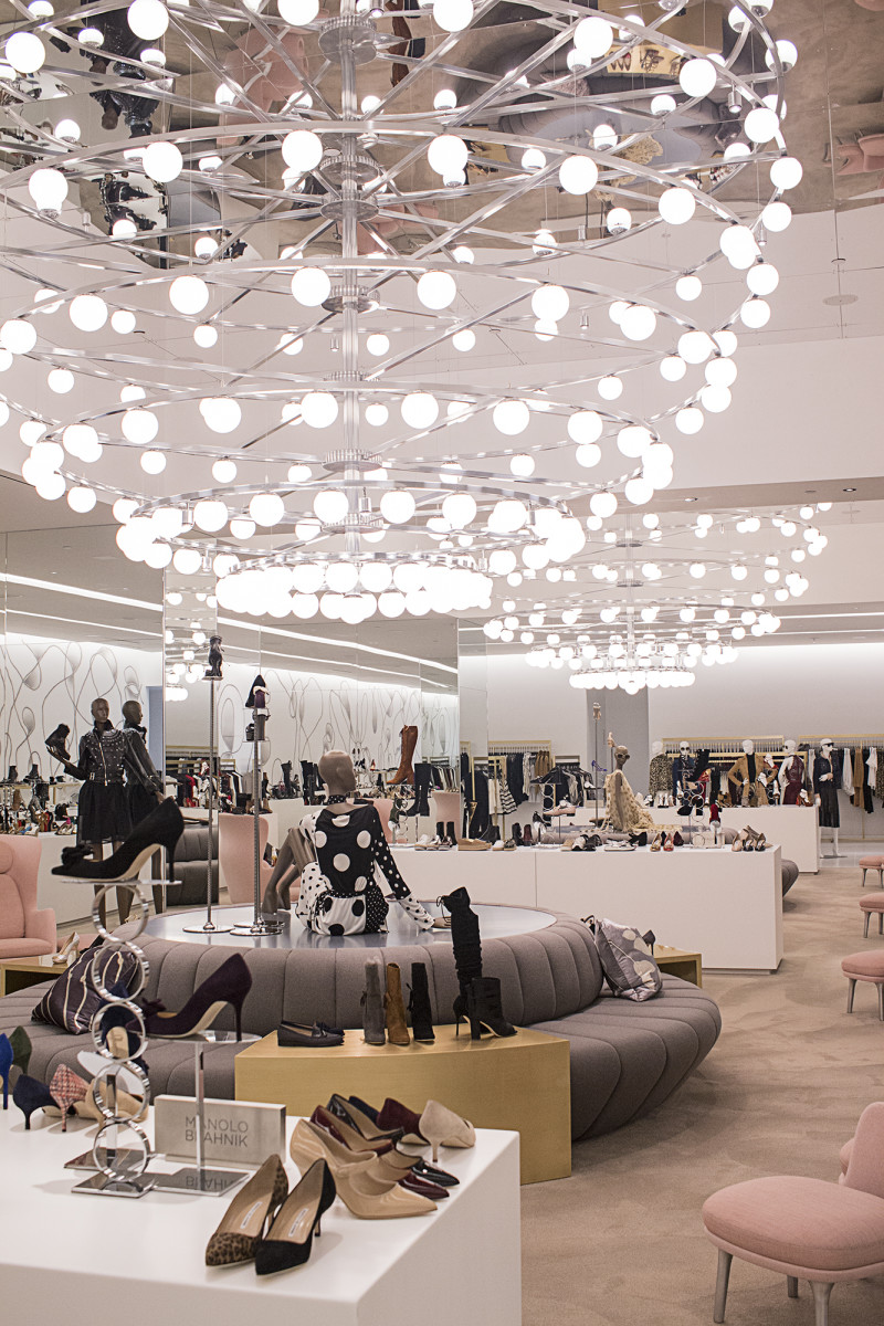 Shoes at Saks Downtown. Photo: Romer Pedron for Saks Fifth Avenue