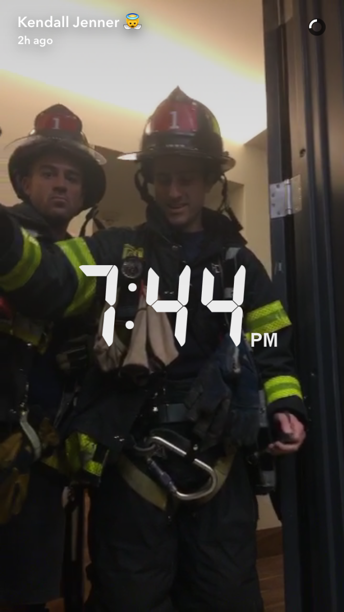 Brave members of the NYFD... definitely not models participating in Nature Valley sponsored content. Definitely not. Photo: Kendall Jenner/Snapchat