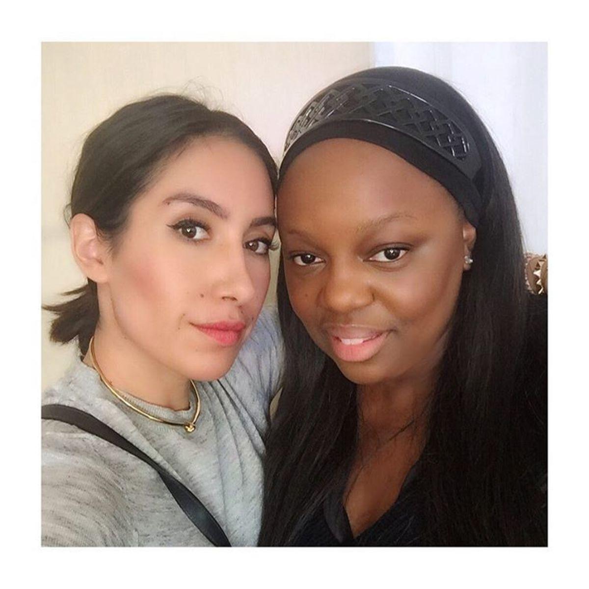 Hairstylist Jen Atkin with makeup artist Pat McGrath. Photo: Jen Atkin/Instagram