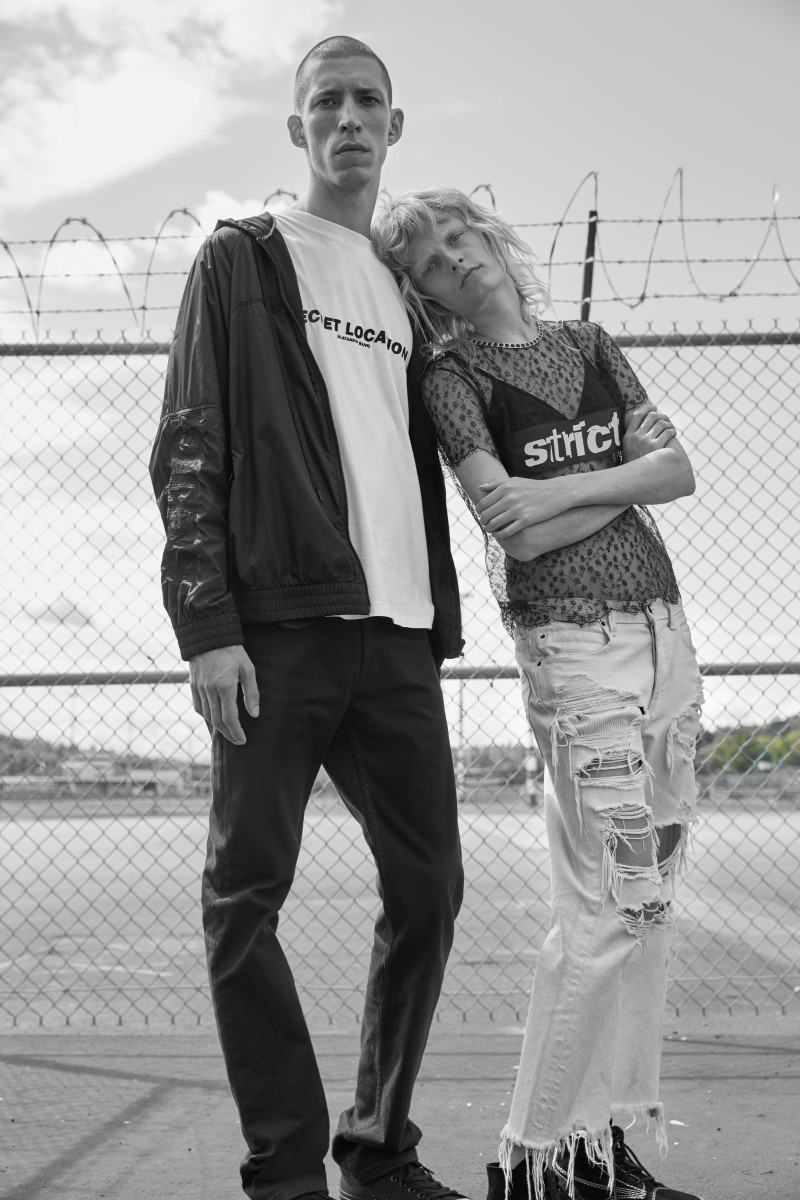 Couple Goals: John Swiatek and Hanne Gaby Odiele for Alexander Wang's Nordstrom Pop-In shop. Photo: Nordstrom