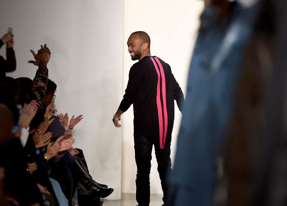 Kerby Jean-Raymond at the end of this fall 2016 show. Photo: Ilya S. Savenok/Getty Images