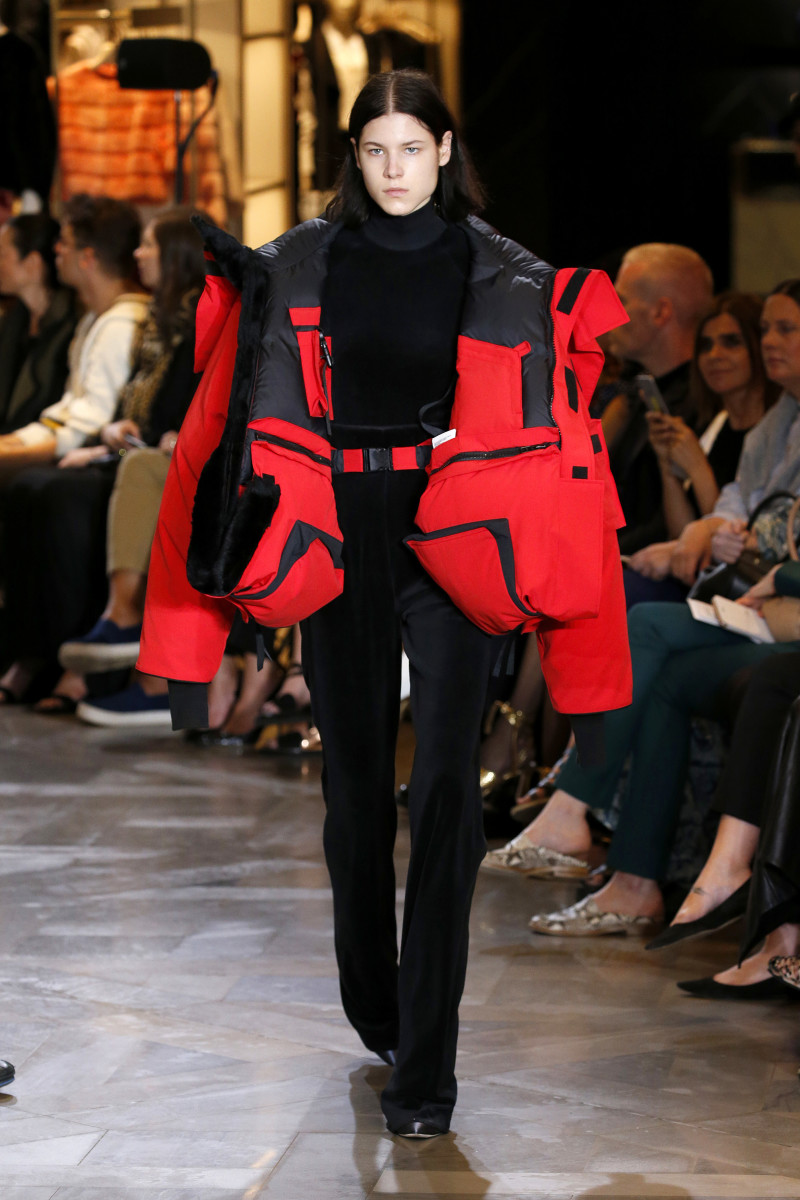 The Vetements x Canada Goose runway version for spring 2017. Photo: EstropGetty Images Entertainment