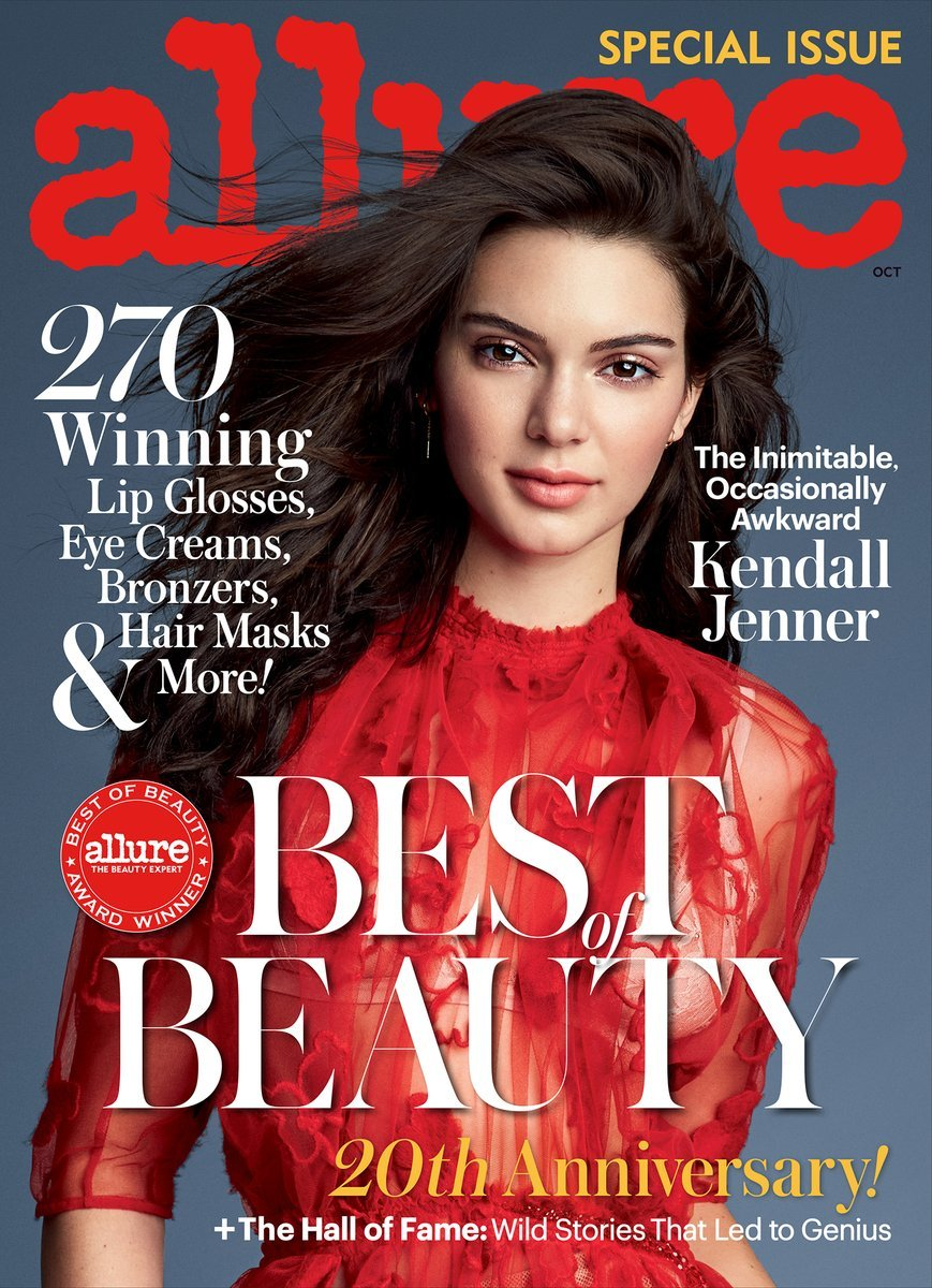 "Kendall Jenner on ""Allure,"" October 2016. Photo: ""Allure"""