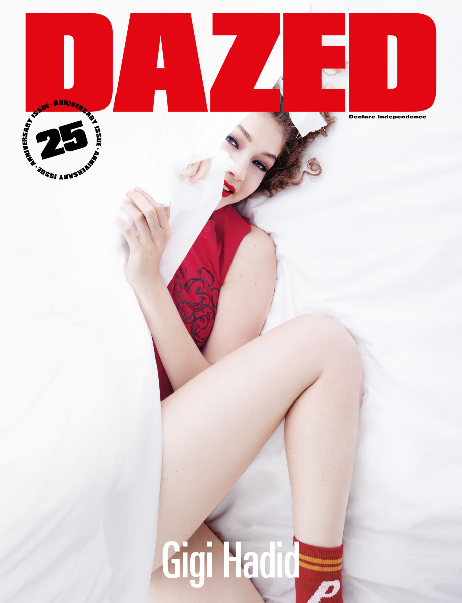 "Gigi Hadid for ""Dazed"" Magazine's 25th anniversary issue. Photo: Rankin"