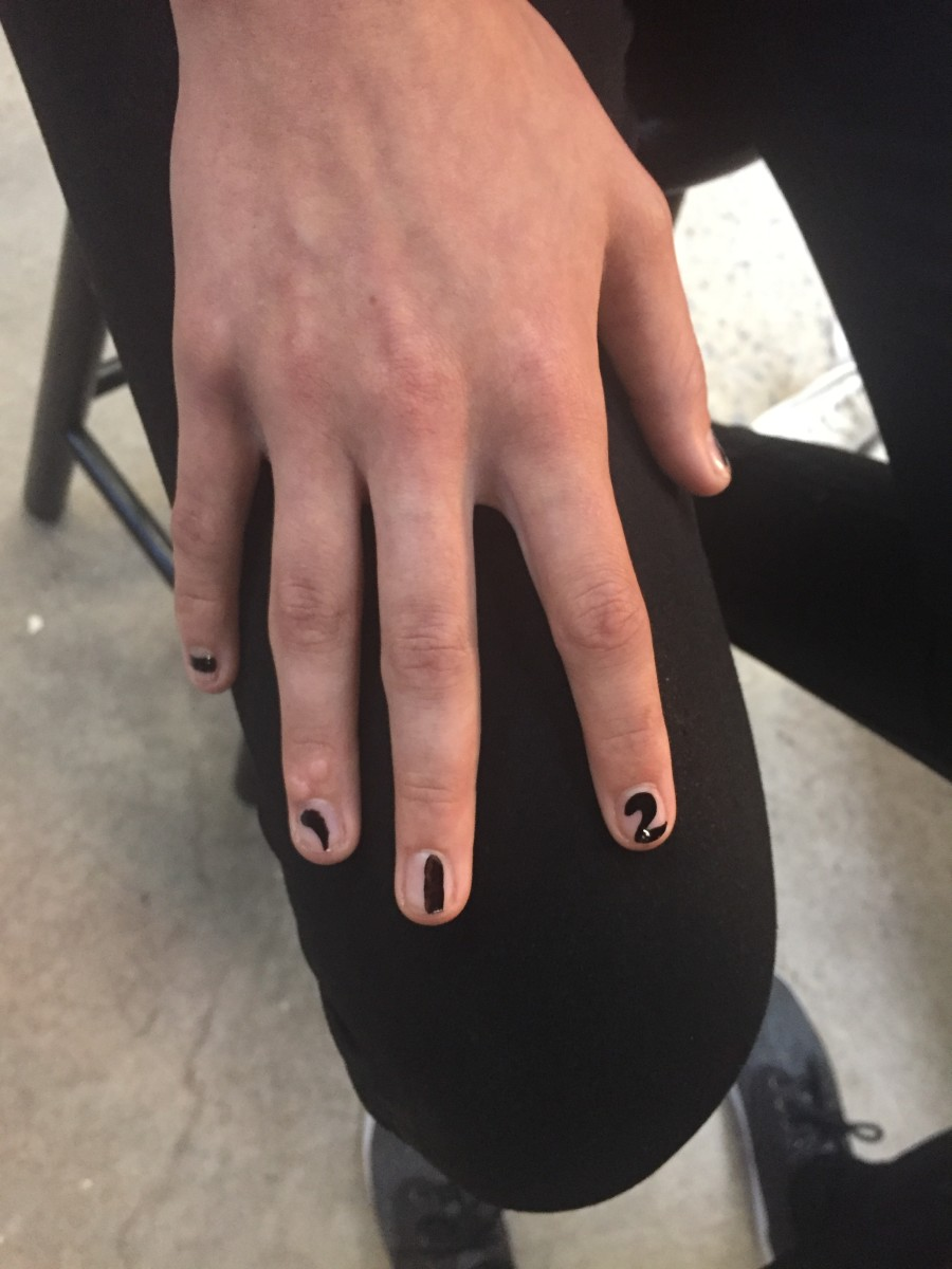 The nail look at Proenza Schouler's spring 2017 show. Photo: Stephanie Saltzman