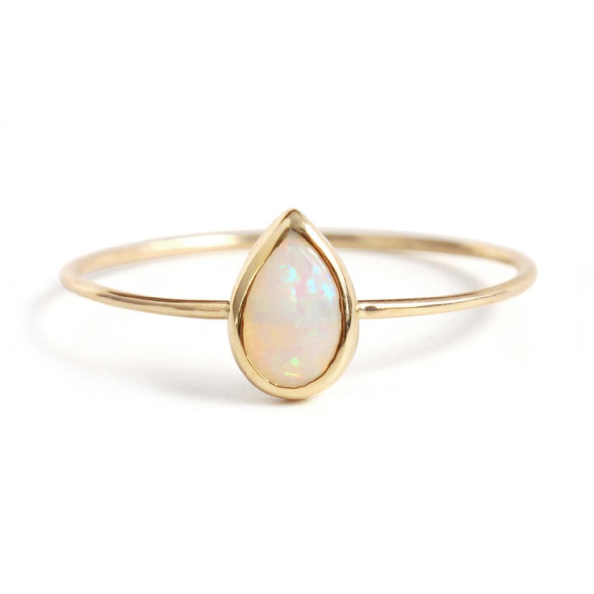 Catbird opal teardrop ring, $198, available at Catbird.