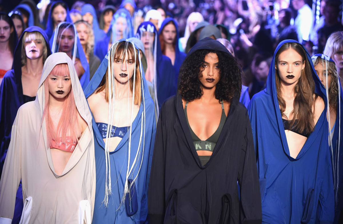 The finale walk at DKNY spring 2017. Photo: Albert Urso/Getty Images
