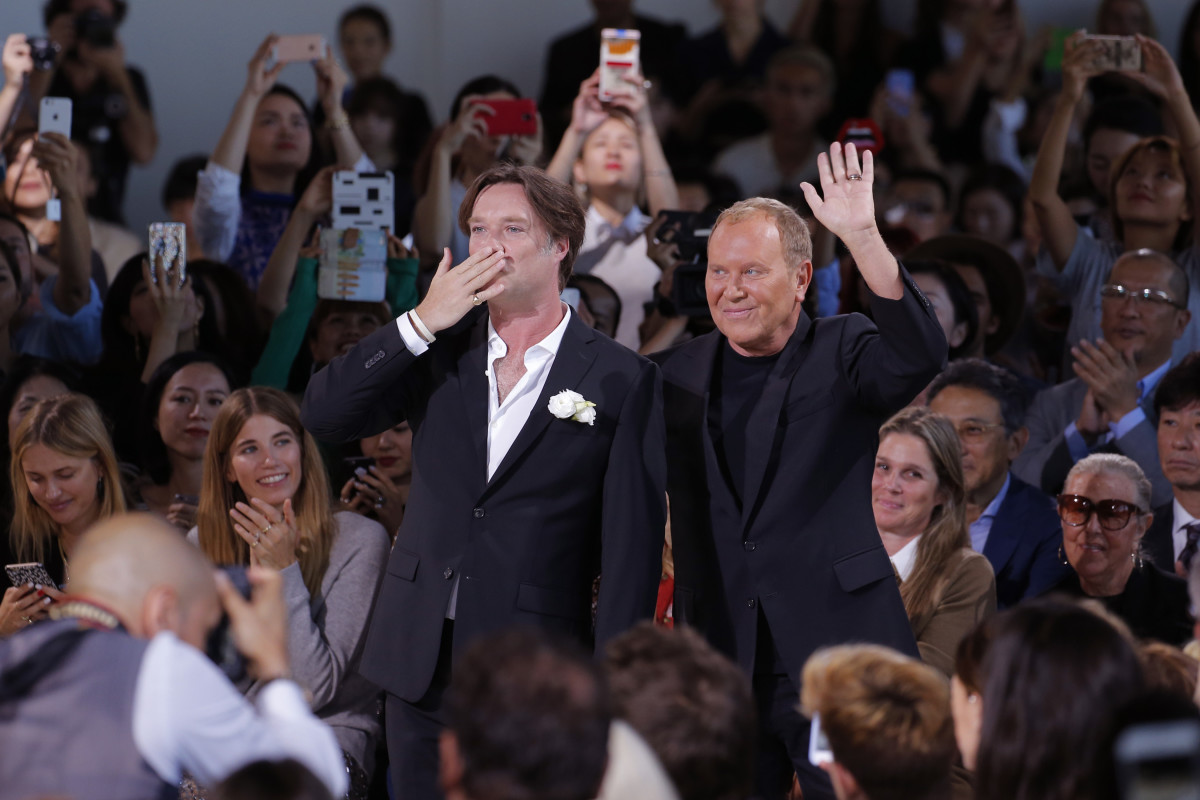 Rufus Wainwright and Michael Kors take a bow. Photo: Getty Images