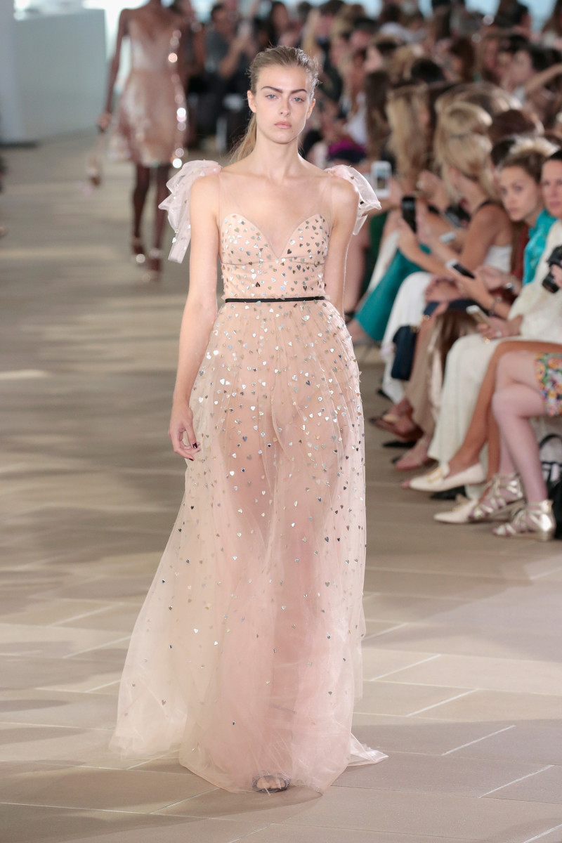 A look from Monique Lhuillier's spring 2017 collection. Photo: Getty Images