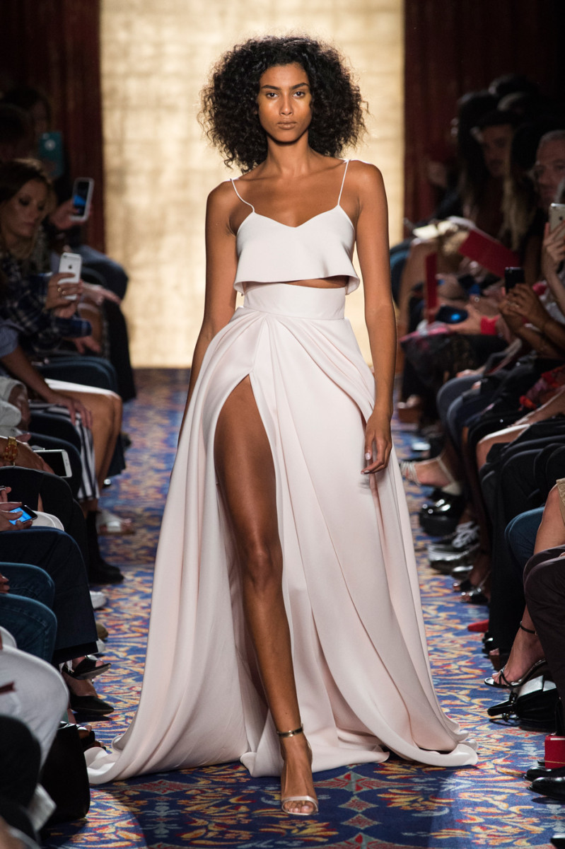 A look from Brandon Maxwell's spring 2017 collection. Photo: Brandon Maxwell