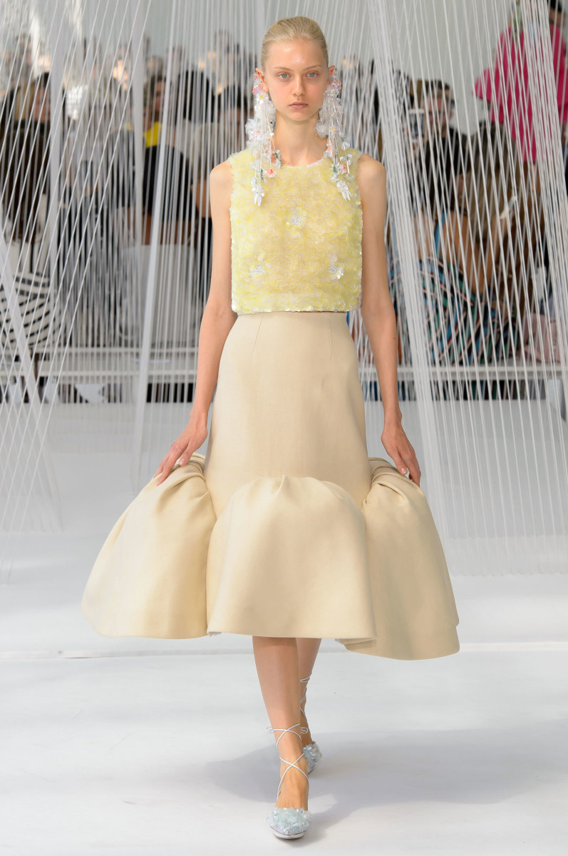 A look from Delpozo's spring 2017 collection. Photo: Imaxtree