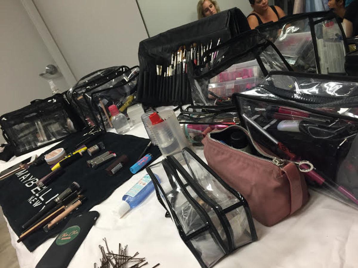 The backstage setup. Photo: Lauren Hubbard