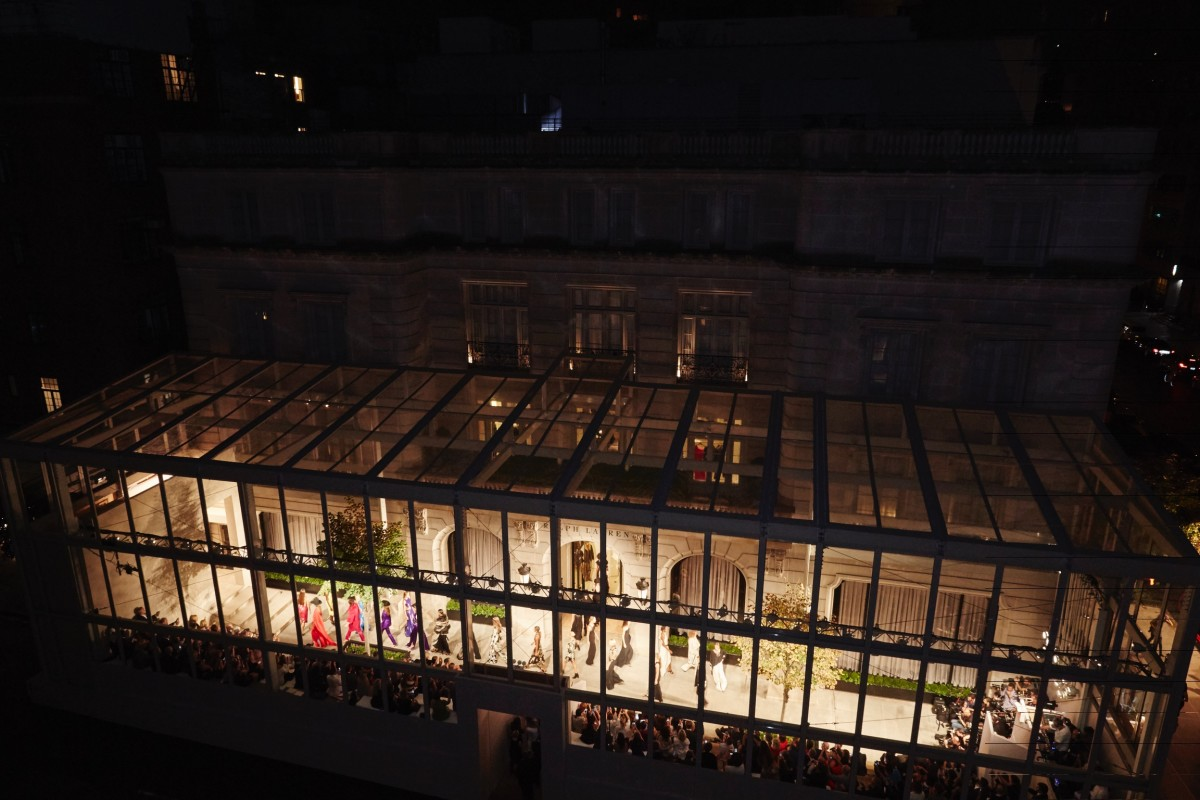 The structure housing the runway show on Madison Ave. Photo: BFA/Ralph Lauren