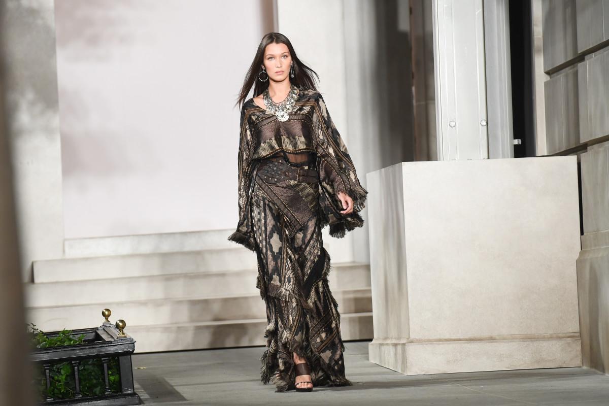 Bella Hadid walks for Ralph Lauren. Photo: BFA/Ralph Lauren