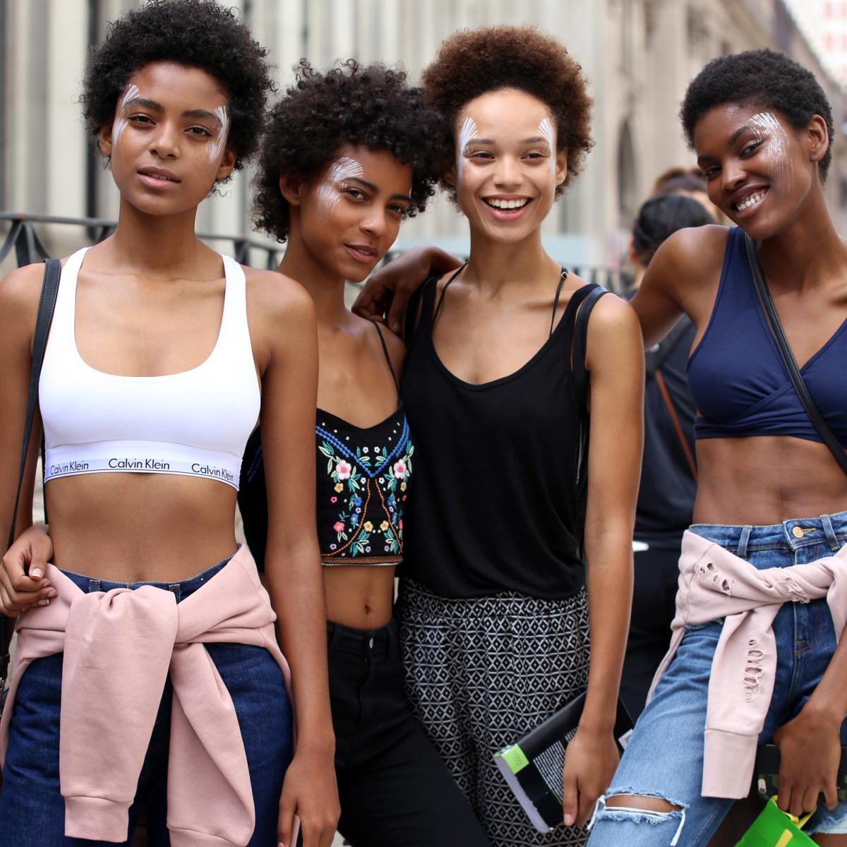 Models Alecia Morais, Amelia Rami, Afrodita Dorado and Amilna Estevao. Photo: Angela Datre/Fashionista