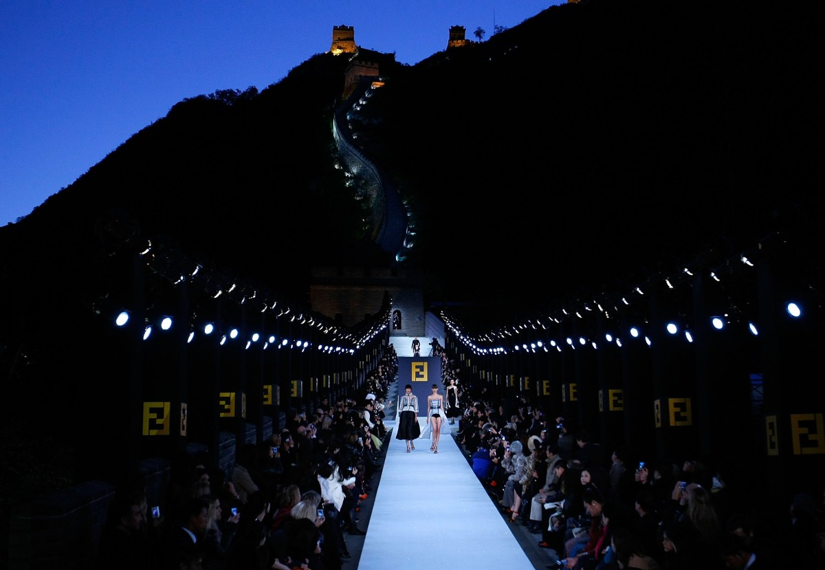 Fendi fall 2007 at the Great Wall of China. Photo: Lucas Dawson/Getty Images for FENDI