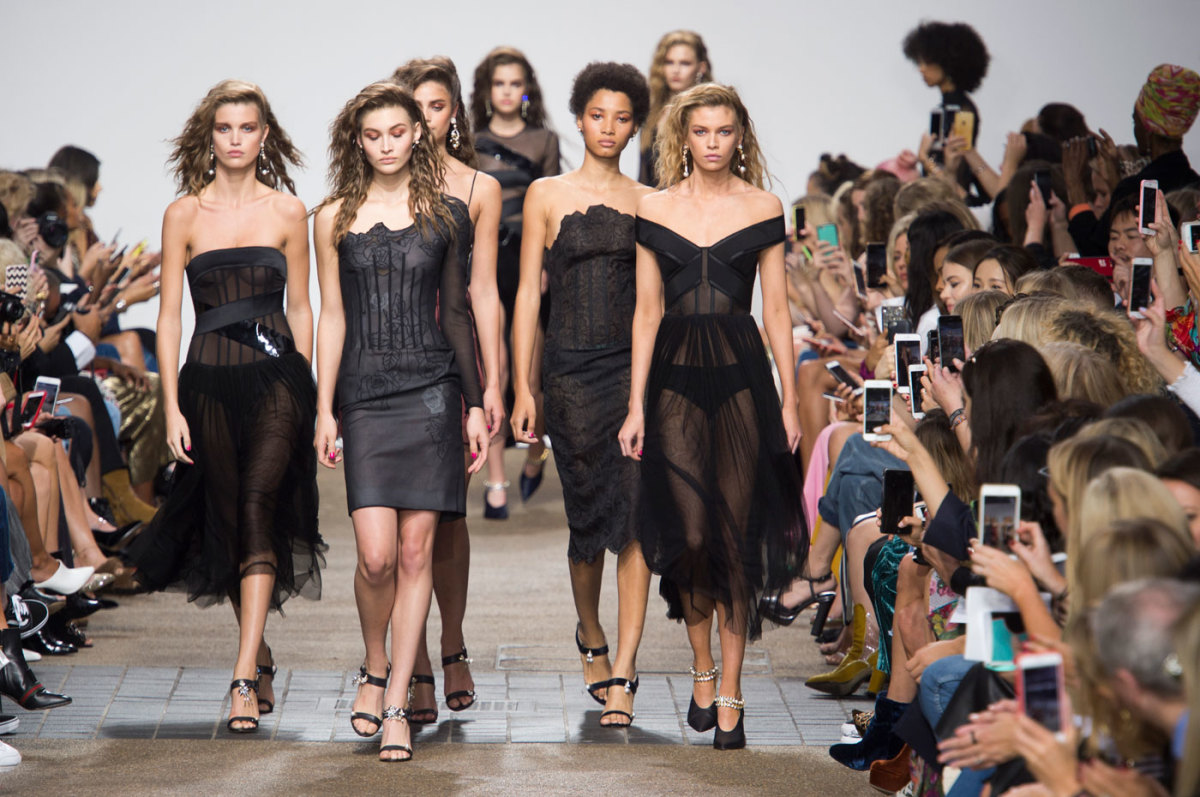 The finale walk at Topshop Unique. Photo: Imaxtree