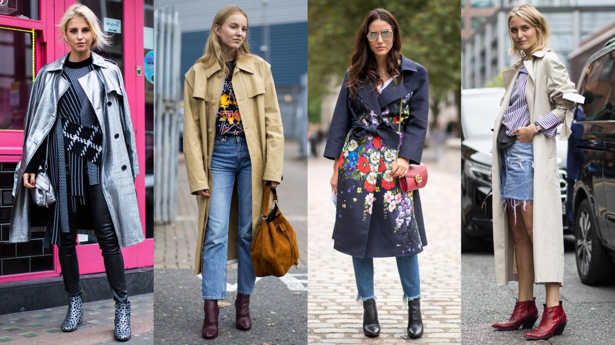 Trench coats for everybody! Photos: Imaxtree, Chiara Marina Grioni/Fashionista, Imaxtree, Chiara Marina Grioni/Fashionista