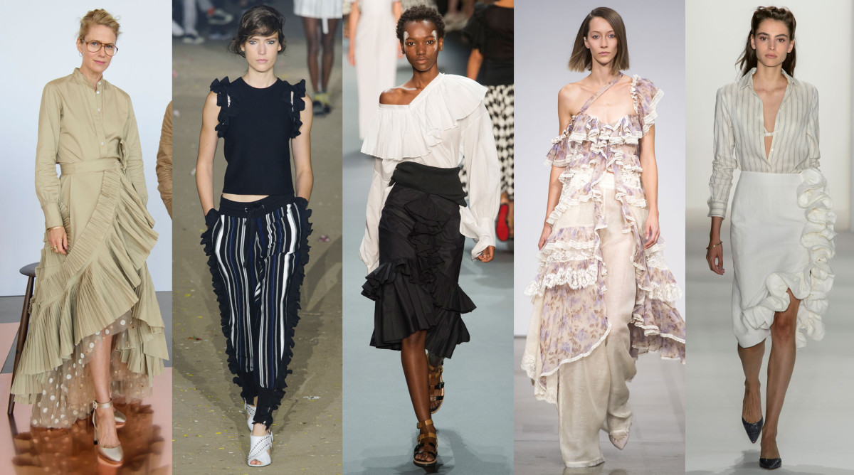 From left to right: J. Crew, 3.1 Phillip LIm, Tome, Zimmerman, Brock Collection. Photos: Imaxtree