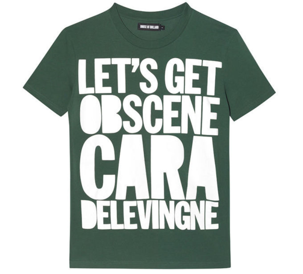 """House of Holland 10th anniversary """"Cara"""" shirt, $95, available at House of Holland."""
