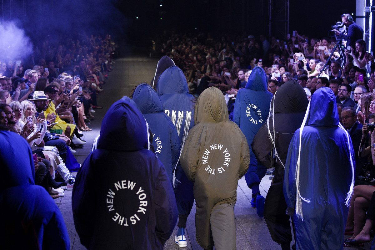 The finale ofDKNY'sspring 2017 show at New York Fashion Week. Photo: Peter White/Getty Images