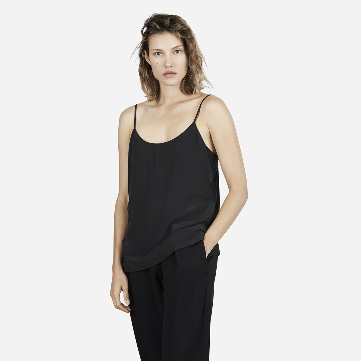 Silk camisole, $58, available at Everlane.