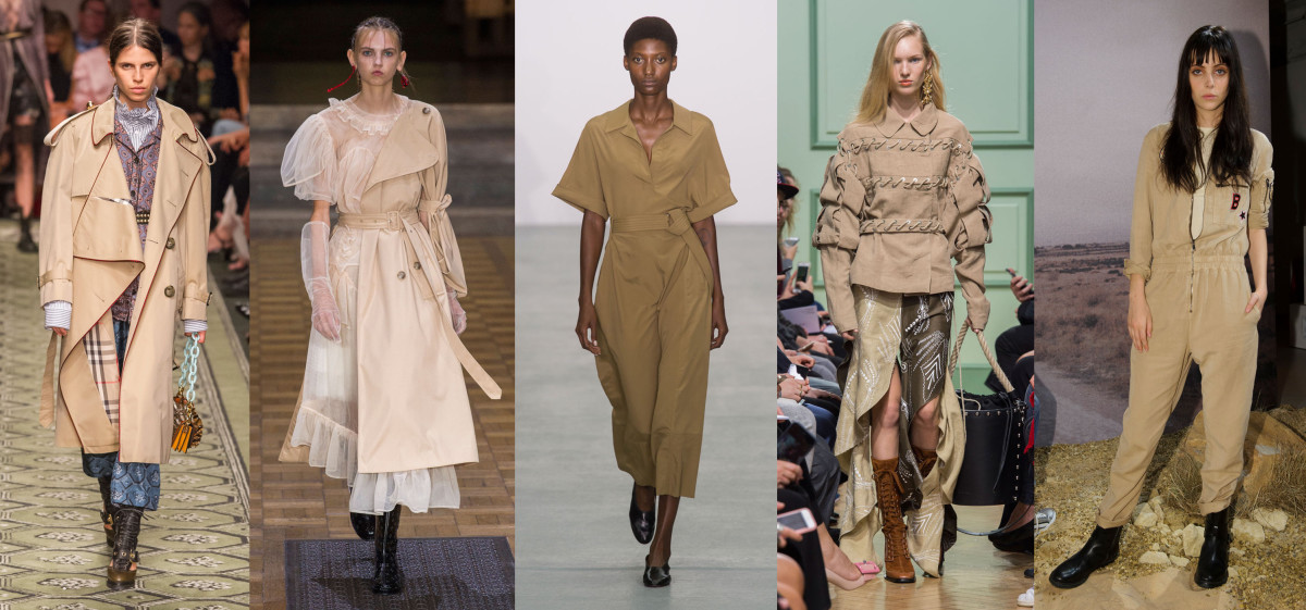 Looks from L-R: Burberry, Simone Rocha, Barbara Casasola, J.W. Anderson and Belstaff. Photos: Imaxtree