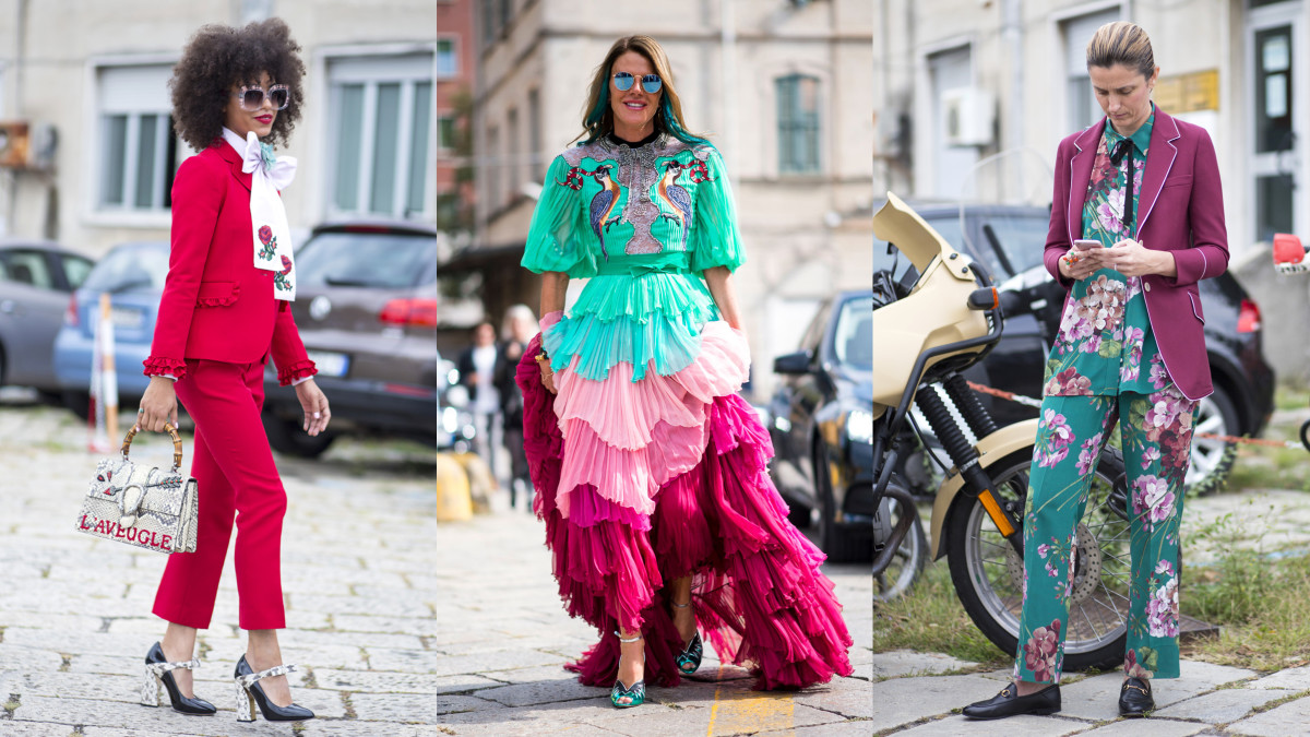 Photos: Chiara Marina Grioni/Fashionista.com (left, right) and Imaxtree (center)