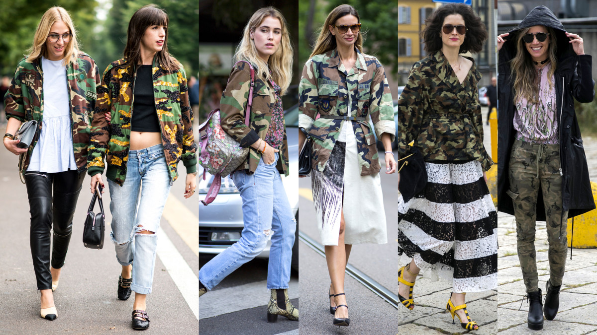 Seen on the streets of Milan on Wednesday and Thursday. Photo from left to right: Imaxtree, Chiara Marina Grioni/Fashionista (2), Emily Malan/Fashionista (2)