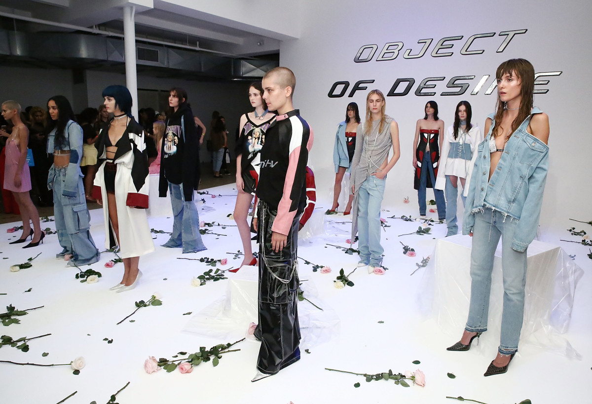 The Misbhv spring 2017 presentation during New York Fashion Week. Photo: Astrid Stawiarz/Getty Images