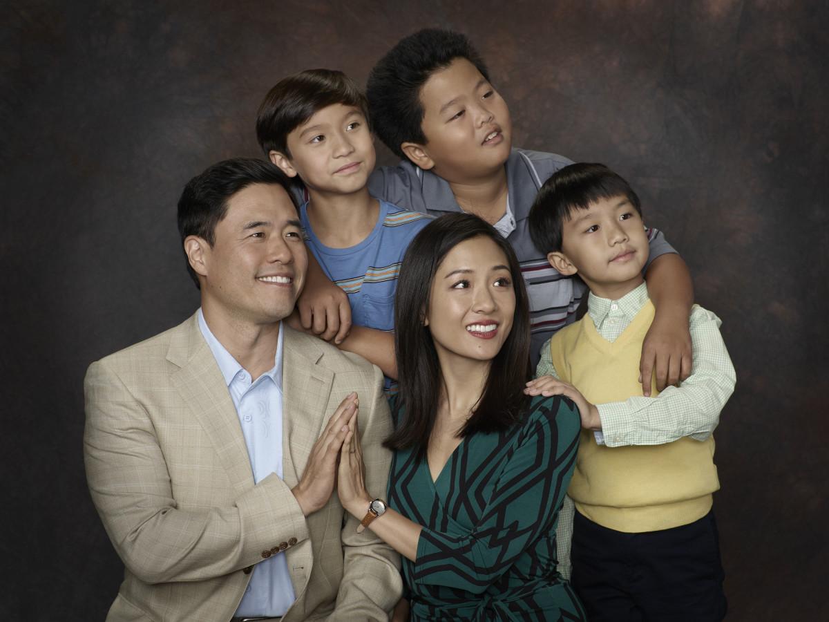 Louis Huang (Randall Park), Emery Huang (Forrest Wheeler), Jessica Huang (Constance Wu),Eddie Huang (Hudson Yang) and Evan Huang (Ian Chen). Photo: Bob D'Amico/ABC
