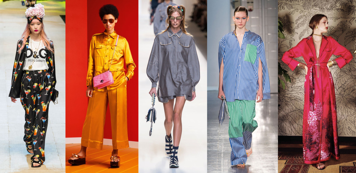 Looks from L-R: Dolce & Gabbana, Bally, Fendi, Ports 1961 and For Restless Sleepers. Photos: Imaxtree, Courtesy of Bally, Imaxtree (3)