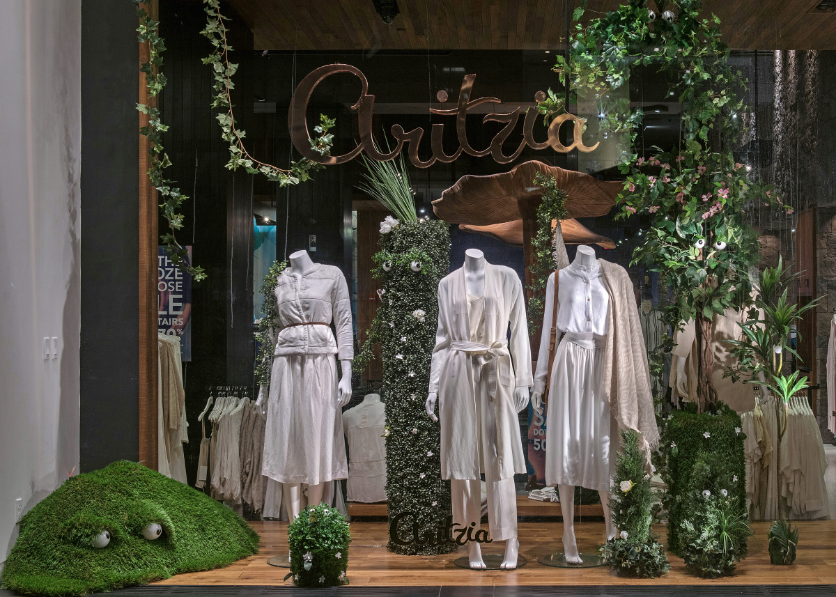 An Aritzia window display in New York City. Photo: Eugene Gologursky
