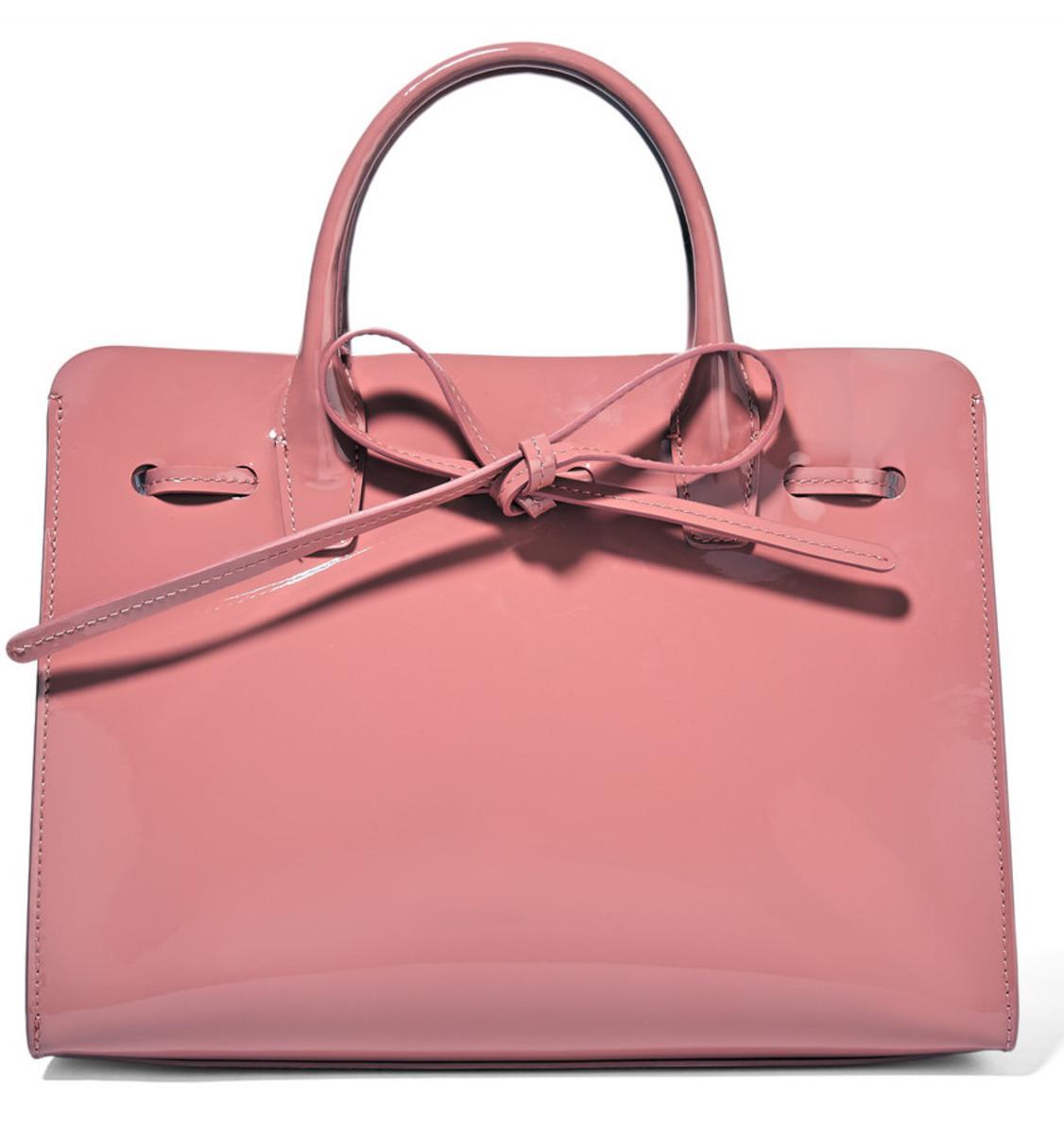 Mansur Gavriel sun mini patent leather tote, $595, available at Net-a-Porter.